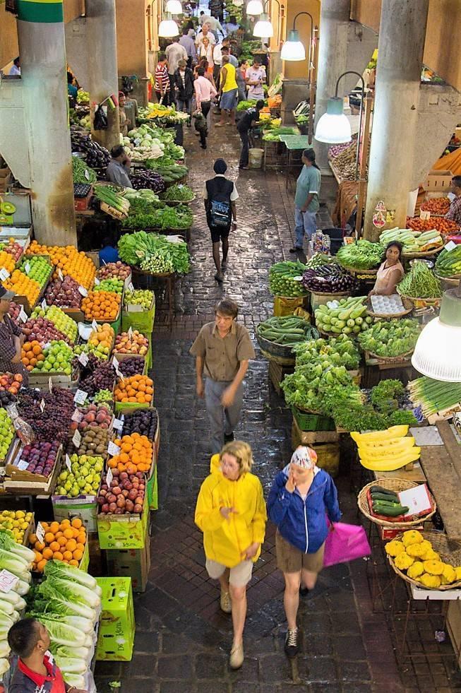 Mercado de Port Louis en Mauricio