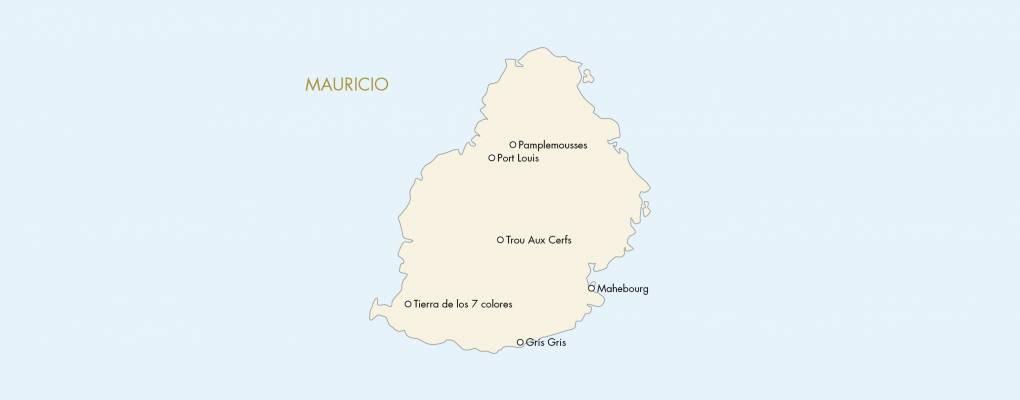 Mapa De Isla Mauricio Puntos De Interes Aventura Africa